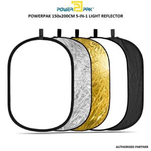 Picture of PowerPak 5 in 1 Collapsible Photo Light Reflector RFT05  (150 X 200 cm)