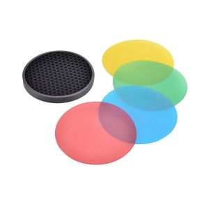Picture of Godox AD-S11 Color Filter Gel Pack with AD-S12 Honeycomb Grid Cover Reflector
