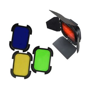 Picture of Godox Barndoor Kit with 4 Color Gels for AD200 Speedlight Head