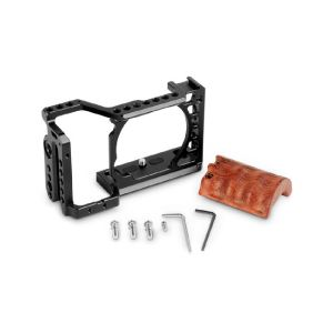 Picture of SmallRig 2097 Camera Cage Kit with Wooden Grip for Sony a6500