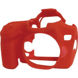 Picture of easyCover Silicone Protection Cover for Canon EOS 70D (Red)