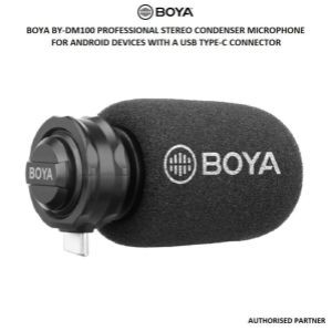Picture of Boya BY-DM100 Professional Stereo Condenser Microphone for Android Devices with a USB Type-C Connector