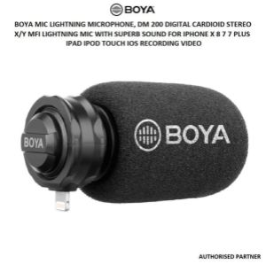 Picture of BOYA BY-DM200 Plug-In Digital Cardioid Microphone for Lightning iOS Devices