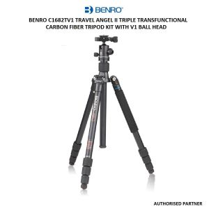 Picture of Benro C1682TV1 Travel Angel II Triple Transfunctional Carbon Fiber Tripod Kit with V1 Ball Head
