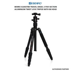 Picture of Benro A1692TB0 Travel Angel 2 Five Section Aluminium Twist Lock Tripod with B0 Head