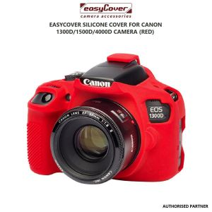 Picture of EasyCover Silicone Cover for Canon 1300D/1500D/4000D Camera (Red)