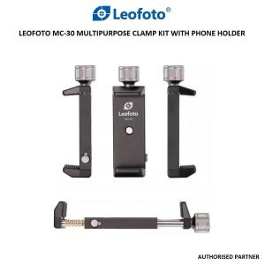 Picture of Leofoto MC-30 Multipurpose Clamp Kit with Phone Holder