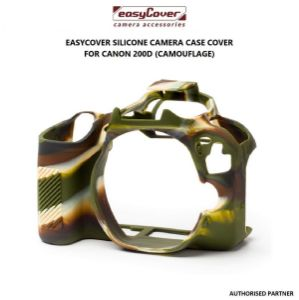 Picture of EasyCover Silicone Protective Camera Case Cover for Canon 200D/250D Camouflage