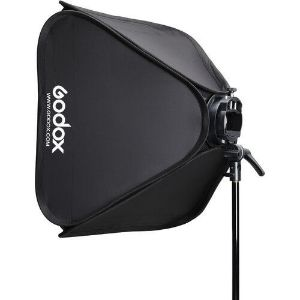 """Picture of Godox S2 Bowens Mount Bracket with Softbox, Grid & Carrying Bag Kit (23.6 x 23.6"""")"""