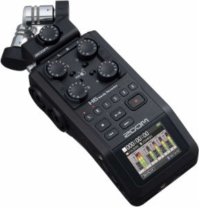 Picture of Zoom H6 All Black 6-Input / 6-Track Portable Handy Recorder with Single Mic Capsule (Black)