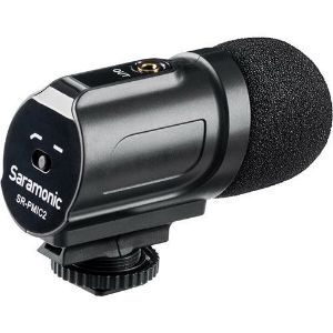 Picture of Saramonic SR-PMIC2 Mini Stereo Condenser Microphone with Integrated Shockmount