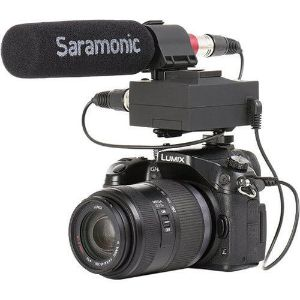 Picture of Saramonic MixMic Shotgun Microphone with Integrated 2-Channel Audio Adapter